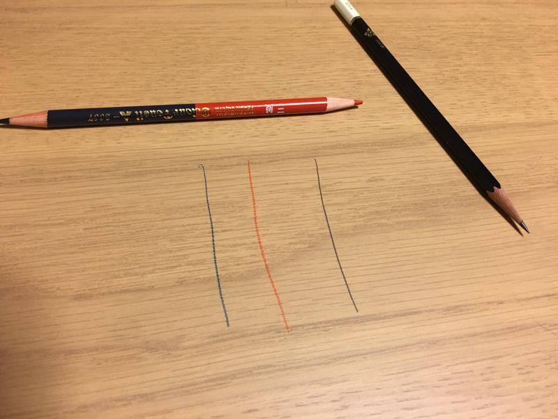 赤青鉛筆でもテスト