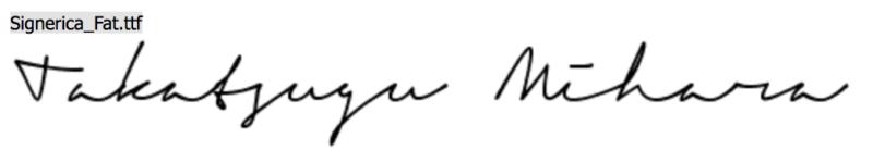 Signericaで作ったサイン