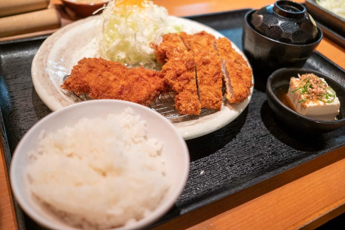 とんかつ薩摩のコンビカツ定食