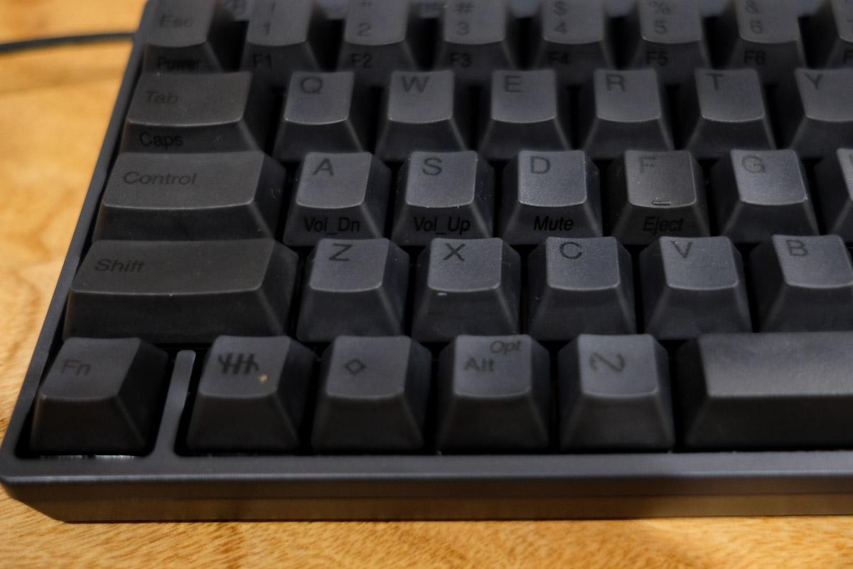 HHKB Professional HYBRID 日本語配列キー側面の表示