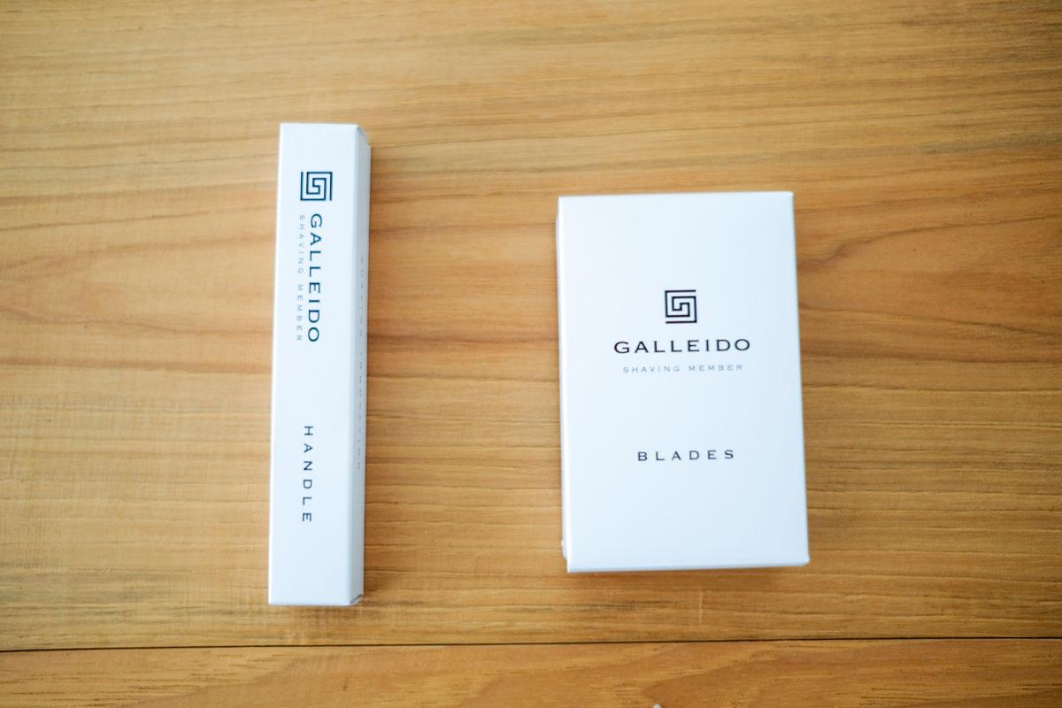 ガレイドのハンドルと替え刃の箱