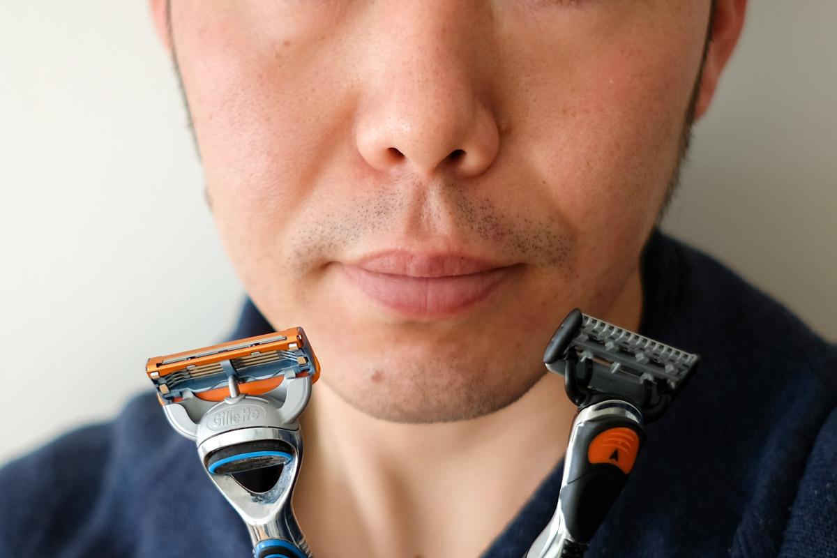 ひげ剃り前の写真