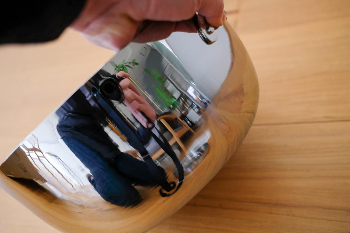 TSBBQライトステンレスダッチオーブンの鏡面加工