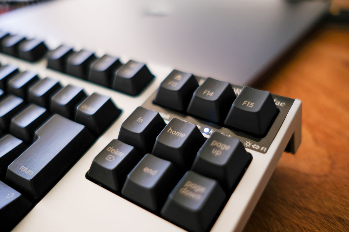 REALFORCE for MacのF13F14F15キーの写真